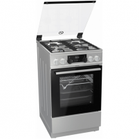Viryklė Gorenje Cooker K5352XH Hob type Gas, Oven type Electric, Inox, Width 50 cm, Electronic ignition, Grilling, LED, 70 L, Depth 60 cm Viryklės