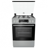 Viryklė Gorenje Cooker K634XH Hob type Gas, Oven type Electric, Inox, Width 60 cm, Electronic ignition, Grilling, LED, 71 L, Depth 60 cm Viryklės