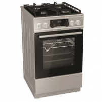 Viryklė Gorenje Cooker KC5355XV Hob type Gas, Oven type Electric, Inox, Width 50 cm, Electronic ignition, Grilling, LED, 70 L, Depth 60 cm Viryklės