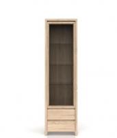 Vitrina Kaspian REG1W2S sonoma Kaspian mēbeļu kolekcija
