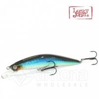 Vobleris LUCKY JOHN Gusty Minnow Floated E121 Dirbtiniai masalai žuvims