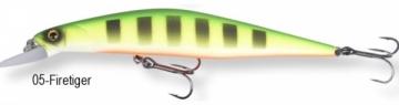Vobleris SGrey 11.5cm 17g ss 05-Fire Tiger Dirbtiniai masalai žuvims