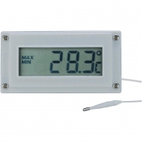 Voltcraft LCD Digital Thermometer and Clock -10 to +110 °C Temperature measuring devices