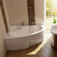 Vonia Asymmetric 150X100, 160X105, 170X110 cm В ванной комнате