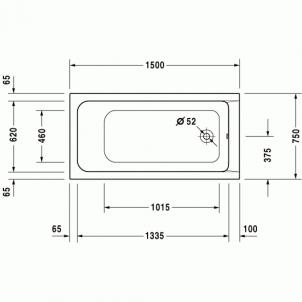 Vonia Duravit D-Code 150x70