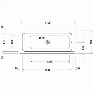 Vonia Duravit D-Code 170x70
