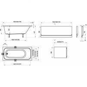 Vonia Ravak Chrome160x70