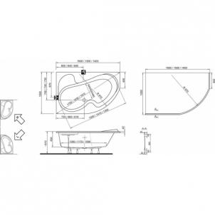 Vonia Ravak Rosa I 140x105 L/R В ванной комнате