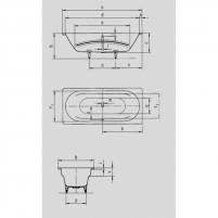 Vonia Vaio Duo 180X80X43cm