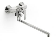 Vonios/dušo maišytuvas Polara ilgu snapu 350 mm, chromas