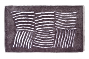 Vonios kilimėlis Ethna 60x100cm, dark grey