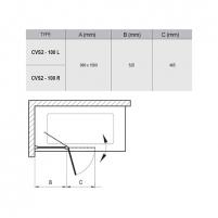 Vonios sienelė CVS2 100X150cm Vonios priedai