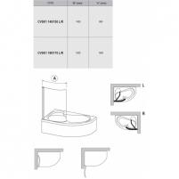 Vonios sienelė CVSK1 Rosa 85,100X150cm Vannas istabā aksesuāri
