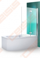Vonios sienelė ROLTECHNIK TZVL2/1200 su specialia lankstų sistema, brillant profiliu ir skaidriu stiklu Душ стены