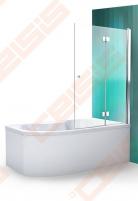 Vonios sienelė ROLTECHNIK TZVL2/1200 su specialia lankstų sistema, brillant profiliu ir skaidriu stiklu Dušo sienelės, durys