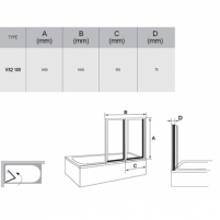 Vonios sienelė VS2 105X140cm Vannas istabā aksesuāri