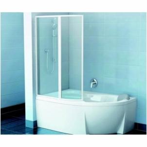 Vonios sienelė VSK2 Rosa 150 balta - stiklas Transparent
