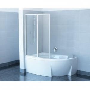 Vonios sienelė VSK2 Rosa 160 balta - stiklas Transparent Dušo sienelės, durys