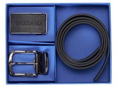 Vyriškas odinis diržas Trussardi 71L00134-K299 105 cm Juoda Belts