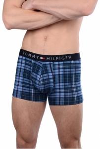 Vyriškos apatinės kelnaitės Tommy Hilfiger Men´s Boxer Cotton Icon Trunk Tartan UM0UM00479-460 True Navy Vyriškos kelnaitės