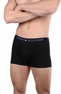 Vyriškos apatinės kelnaitės Tommy Hilfiger Men´s boxer Cotton Icon Trunk Tartan UM0UM00479-990 Black Vyriškos kelnaitės