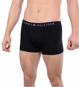 Vyriškos apatinės kelnaitės Tommy Hilfiger Mens Boxers Cotton Icon Trunk Small Houndstooth UM0UM00389-416 Navy Blaze r Vyriškos kelnaitės