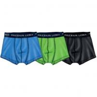 Vyriškos kelnaitės Ralph Lauren Polo Sada 3 vnt Trunk Turquoise/Green/Black 251U3TNK-B6598-VPK08 (Dydis: XL) Vyriškos kelnaitės