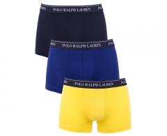 Vyriškos kelnaitės Ralph Lauren Polo Sada 3 vnt Trunk Yellow/Navy/Royal 251U3TNK-B6598-VPK05 (Dydis: L) Vyriškos kelnaitės