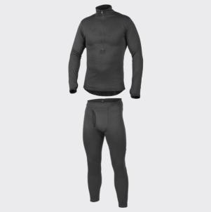 Vyriškų apatinių komplektas HELIKON LEVEL 2 -juodi, šilti KP-UN2-PO-01 Taktiniai, termoaktyvūs apatiniai drabužiai
