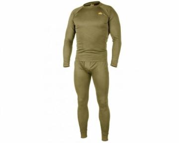 Vyriškų šiltų apatiniu komplektas LEVEL 1 Helikon, chaki spalva Taktiniai, termoaktyvūs apatiniai drabužiai