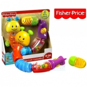 W9834 Fisher Price kirmėlytė-konstruktorius Rotaļlietas zīdaiņiem