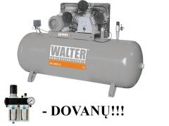 WALTER GK880-5,5/270 stūmoklinis oro kompresorius su 270 L resiveriu Reciprocating compressor
