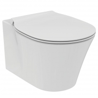 WC withspended Ideal Standard Connect, Air Rimless, with paslėptais tvirtinimais ir slow rectractable cover