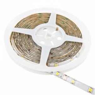 WE LED juosta atsapri vandeniui 5m | 120vnt/m| 3528 | 9,6W/m| 6000K šalta balta Šviesos diodų (LED) lempos