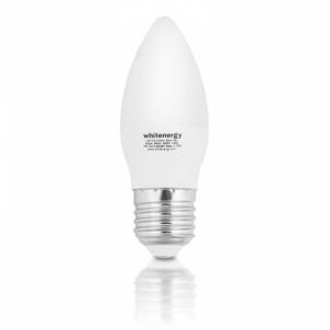 Whitenergy LED lemputė | 10xSMD2835| C37 | E27 | 5W | 230V| šilta balta | pienas