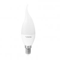 Whitenergy LED lemputė | 6xSMD2835| C37L| E14 | 3W | 230V | šilta balta | pienas Light-emitting diode (led) lamps