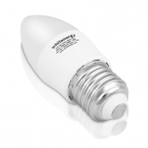 Whitenergy LED lemputė | 7xSMD2835| C37 | E27 | 3W | 230V | šalta balta | pienas