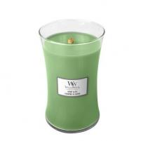 WoodWick Scented candle vase Hemp & Ivy 609 g Kvapai namams