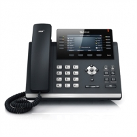 "Yealink SIP-T46G IP Phone, Yealink Optima HD voice, up to 16 SIP accounts, dual-port Gigabit Ethernet, 4.3"" 480 x 272-pixel color, backlit display, Built-in a USB port,PoE(802.3af) class support, Headset, EHS support, Supports expansion modules, Wal Ip telephony"