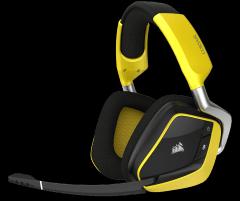 Žaidimų ausinės Corsair Void Pro RGB, Bevielės, Dolby 7.1, Juodai geltonos (EU)
