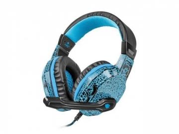 Žaidimų ausinės Fury HELLCAT su mikrofonu, LED, 2 x Mini Jack 3,5mm Laidinės ausinės