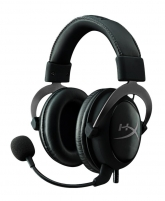 Žaidimų ausinės su mikrofonu HyperX Cloud II Headset (Gun Metal)