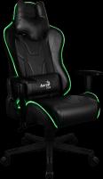 Žaidimų kėdė Aerocool AC-220 AIR RGB / Juoda Jauniešu krēsli