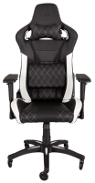 Žaidimų kėdė Corsair T1 RACE 2018, High Back Desk and Office Chair, Juoda/Balta Jaunuolio kėdės