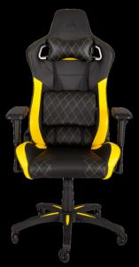 Žaidimų kėdė Corsair T1 RACE 2018, High Back Desk and Office Chair, Juoda/Gelton Jaunuolio kėdės