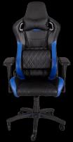Žaidimų kėdė Corsair T1 RACE 2018, High Back Desk and Office Chair, Juoda/Mėlyna Jaunuolio kėdės