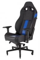 Žaidimų kėdė Corsair T2 ROAD WARRIOR High Back Desk and Office Chair Juoda/Mėlyn Jaunuolio kėdės