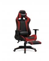 Žaidimų kėdė DEFENDER 2 juoda/raudona Jaunuolio kėdės