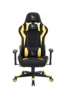 Žaidimų kėdė Gembird Gaming chair SCORPION-06, Medžiaginė juoda su raudonai siūlais Jaunuolio kėdės