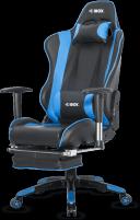 Žaidimų kėdė I-BOX AURORA GT1 GAMING ARMCHAIR BK/BLUE Jaunuolio kėdės